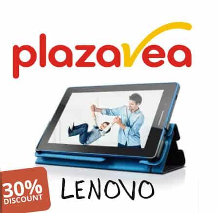 30% descuento en tablet lenovo
