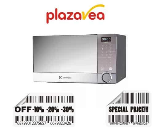horno microondas plaza vea
