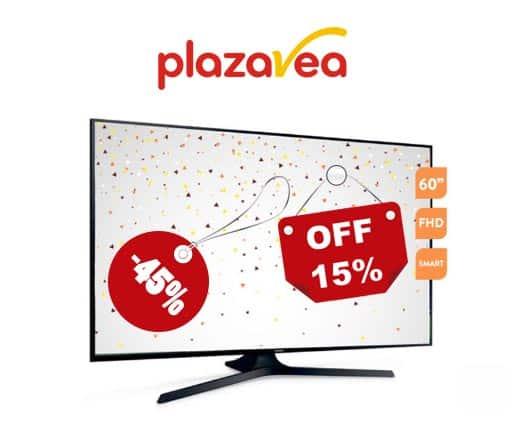 oferta y precios bajos de televisores en plaza vea