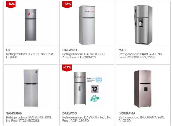 ofertas de refrigeradoras Samsung- LG - Daewoo - Indurama