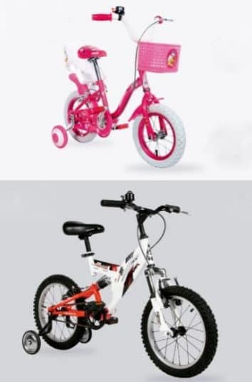 bicicletas para niños y niñas en descuento plaza vea