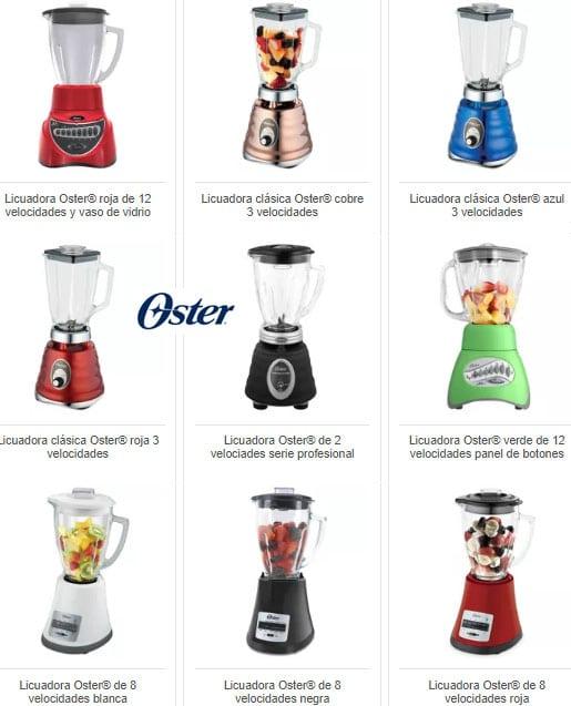 Catalogo de modelos de licuadoras Osterperu