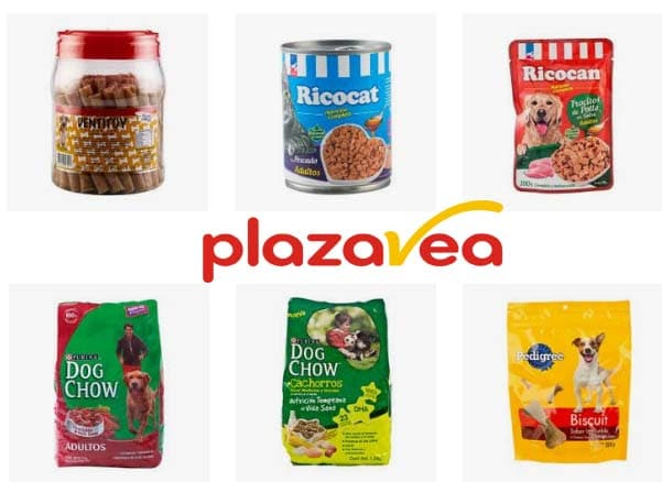 alimento para perro plaza vea