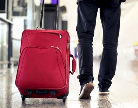 maleta de tela semi rígida