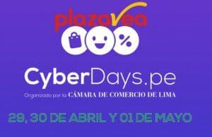 cuando es cyberdays plaza vea abril