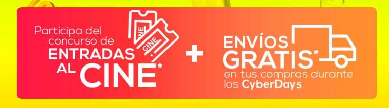 promocion entradas al cine mas envio gratis plaza vea cyberdays