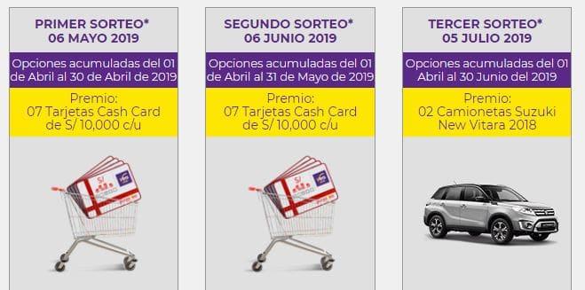 sorteos tarjeta cash card veaclub 2019