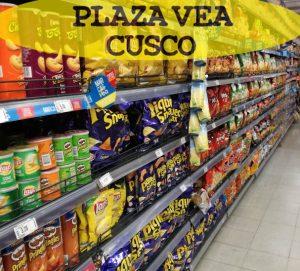 gondola de productos en plaza vea cusco